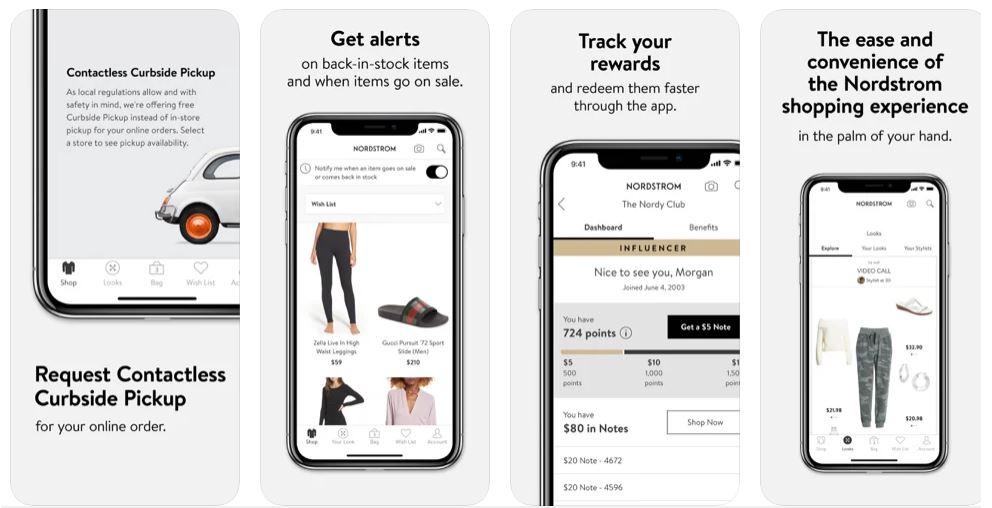 Nordstrom app for online order