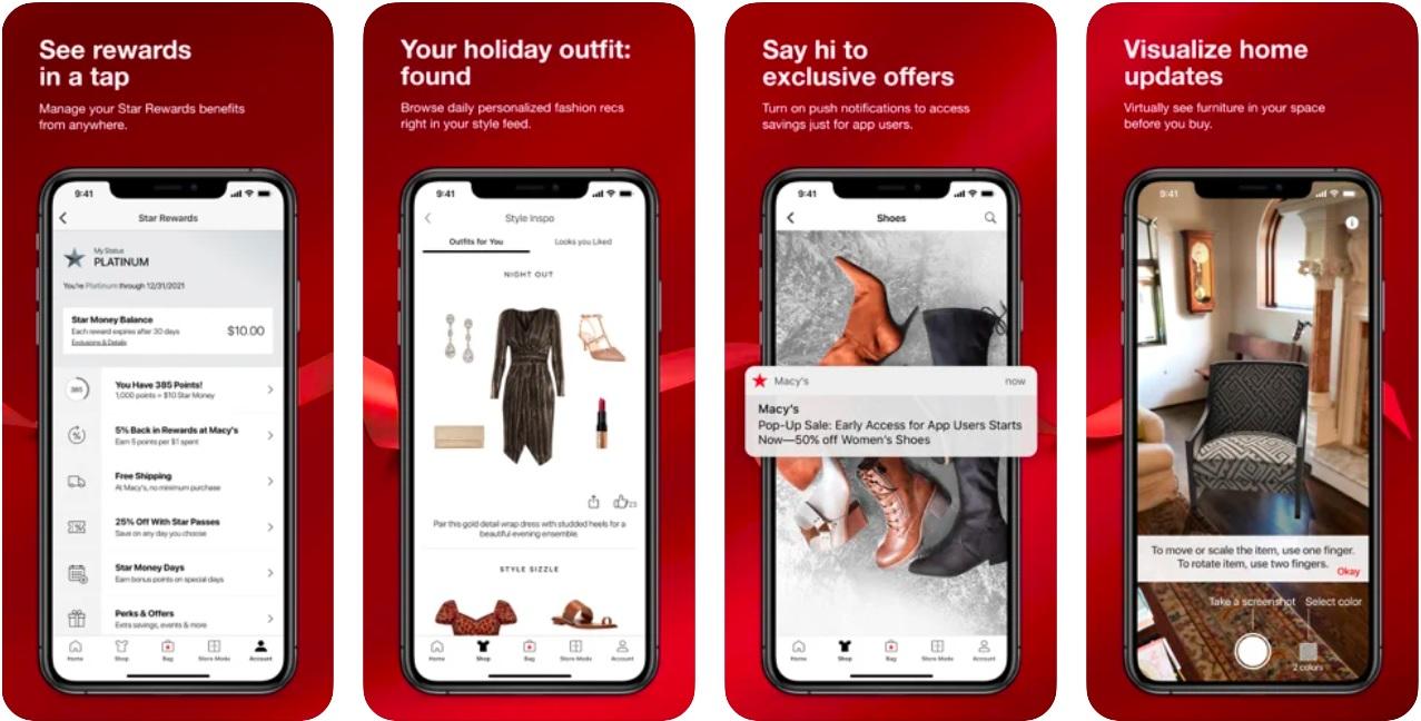Macys app for online shopping