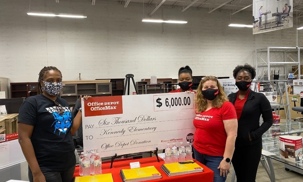 Office Depot donate to charity