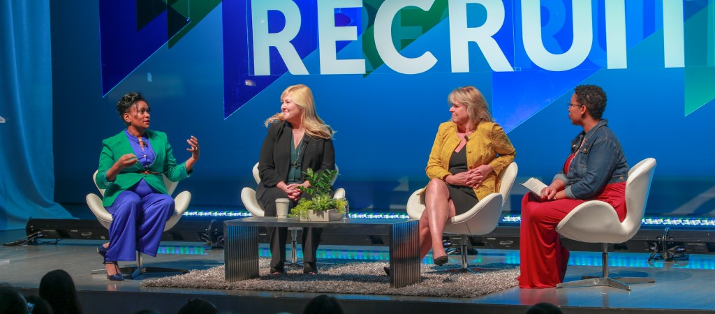 Glassdoor executive in an interview at recruiting conference