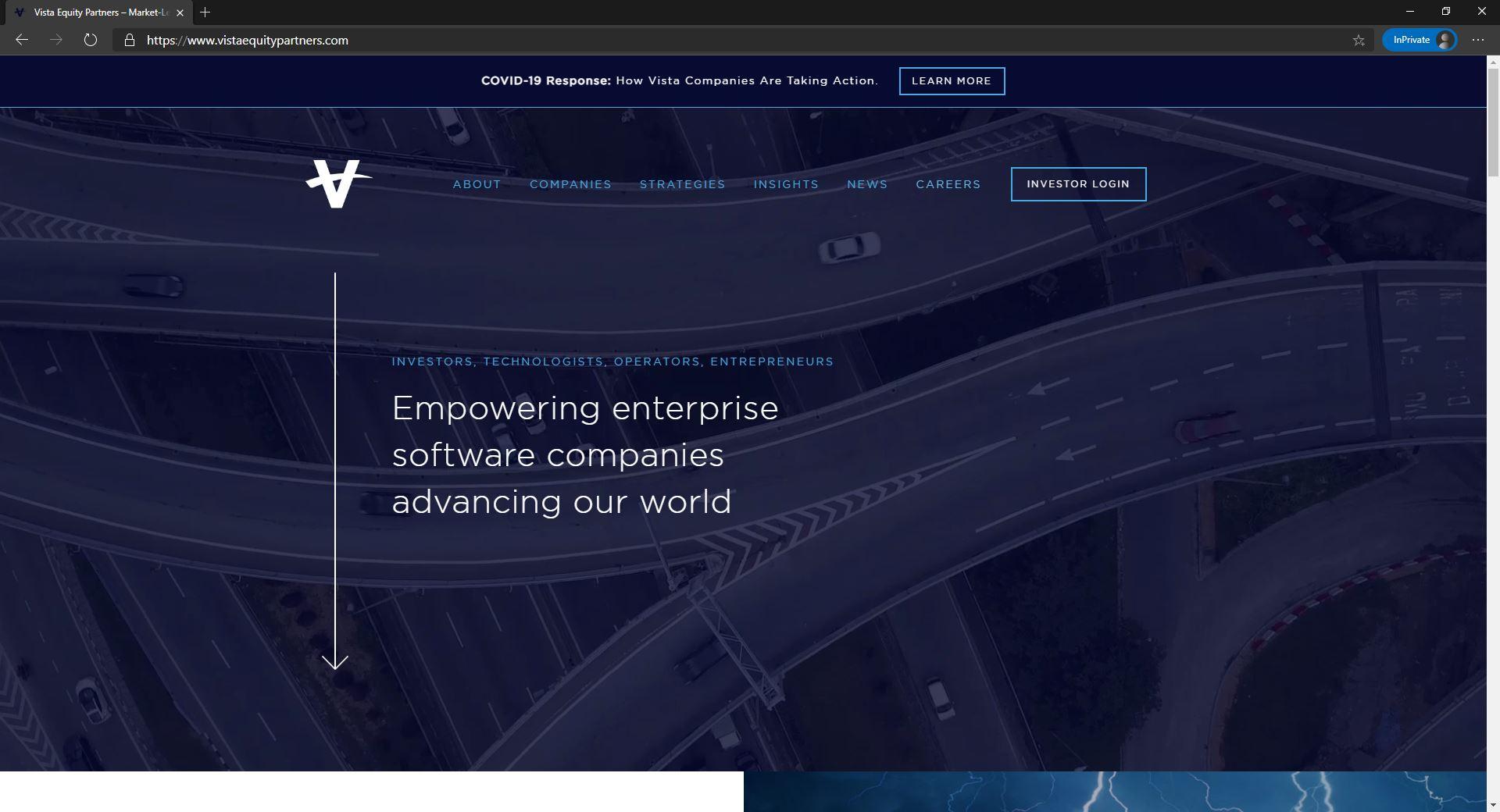 Vista Equity Partners website