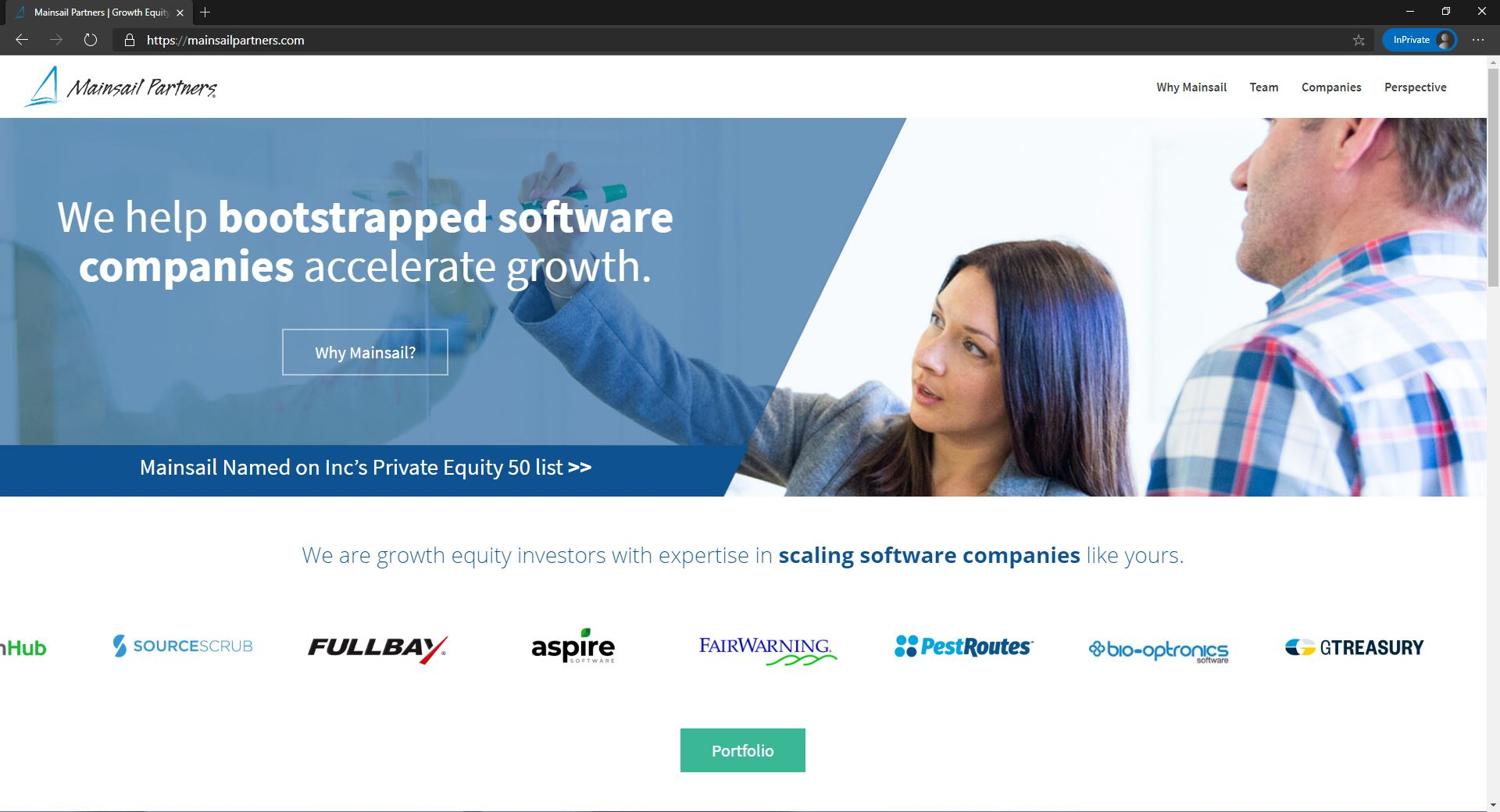 Mainsail Partners website