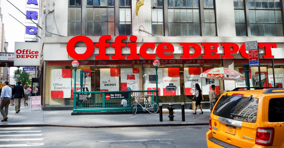 Office Depot store when Staples tried to acquire