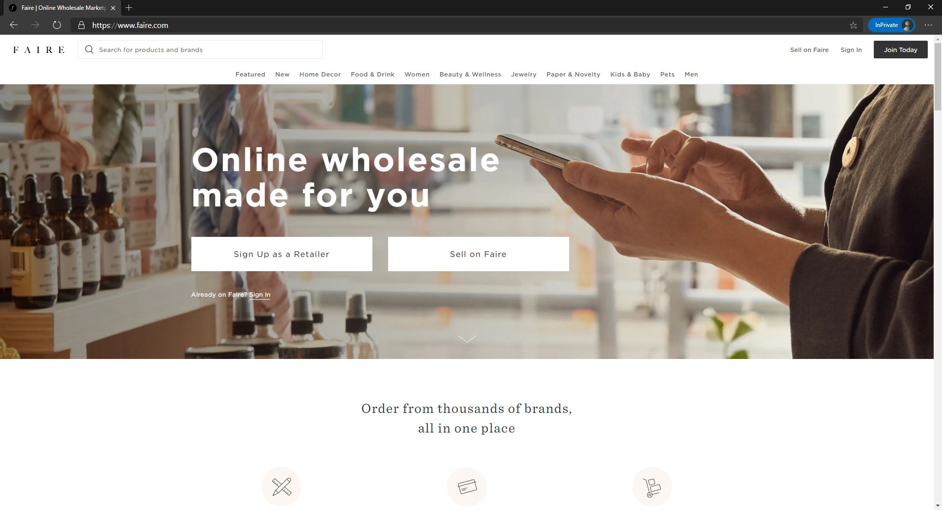 Faire website
