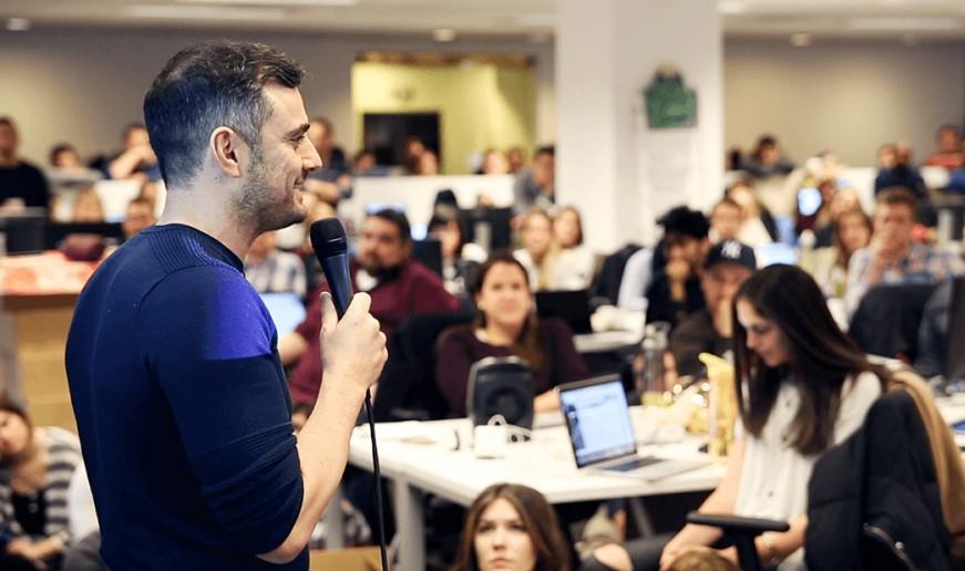 Gary Vaynerchuk in a talk in his company in New York