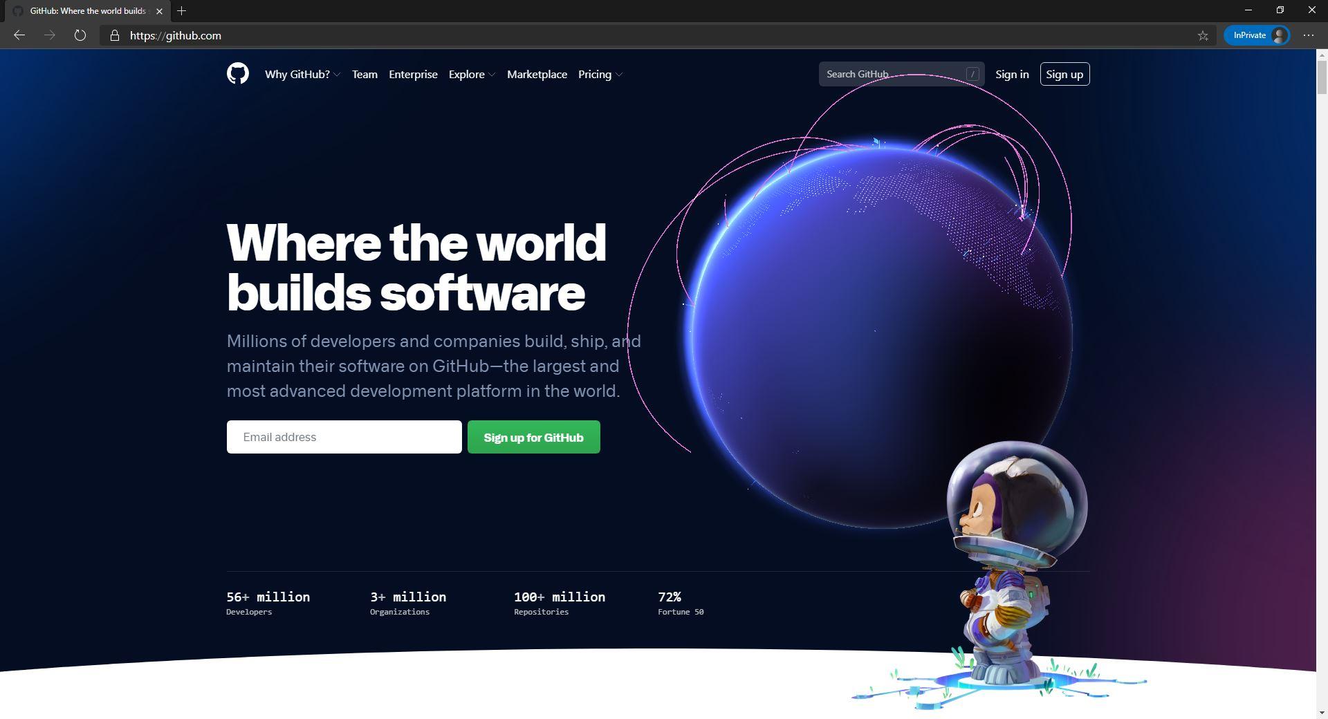 GitHub website