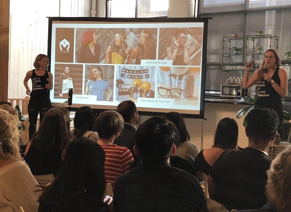 Karen Cahn at a women entrepreneur meetup event