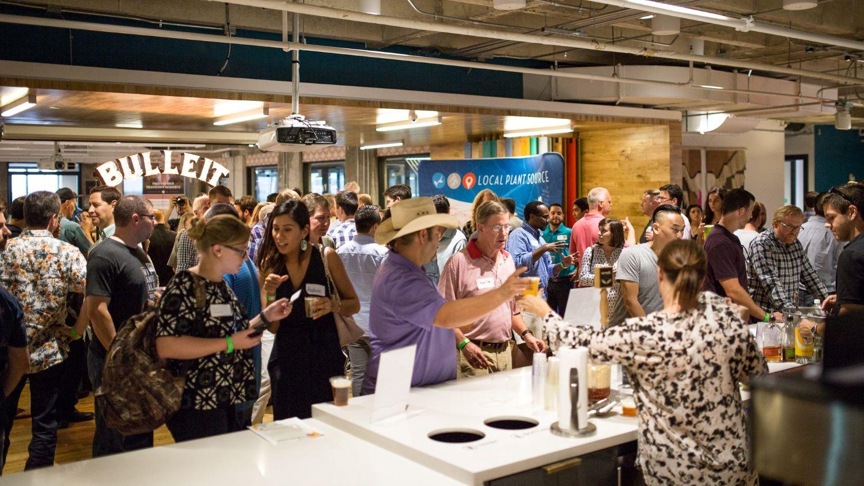 People network in Wework office at Austin startup week