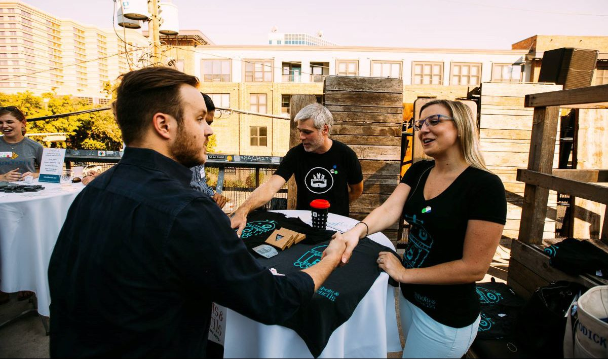Professional networking event at Austin startup week