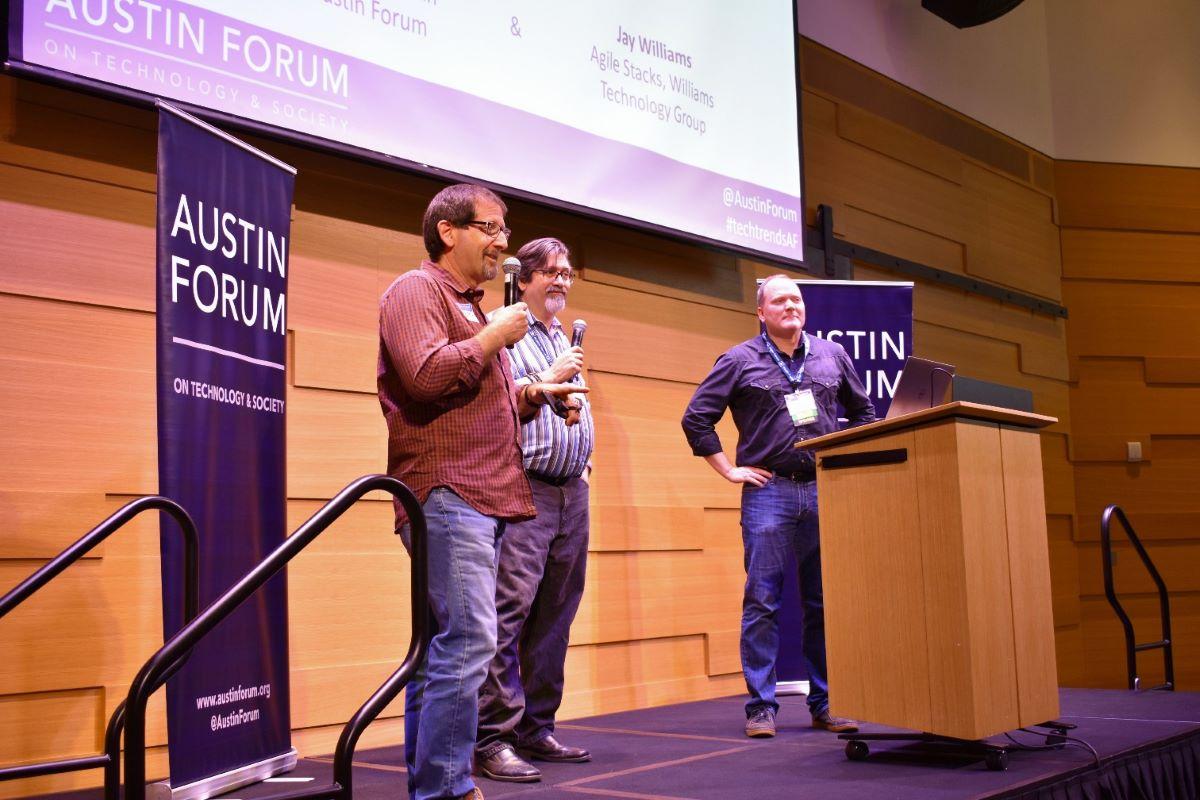 Austin Forum leadership at a talk