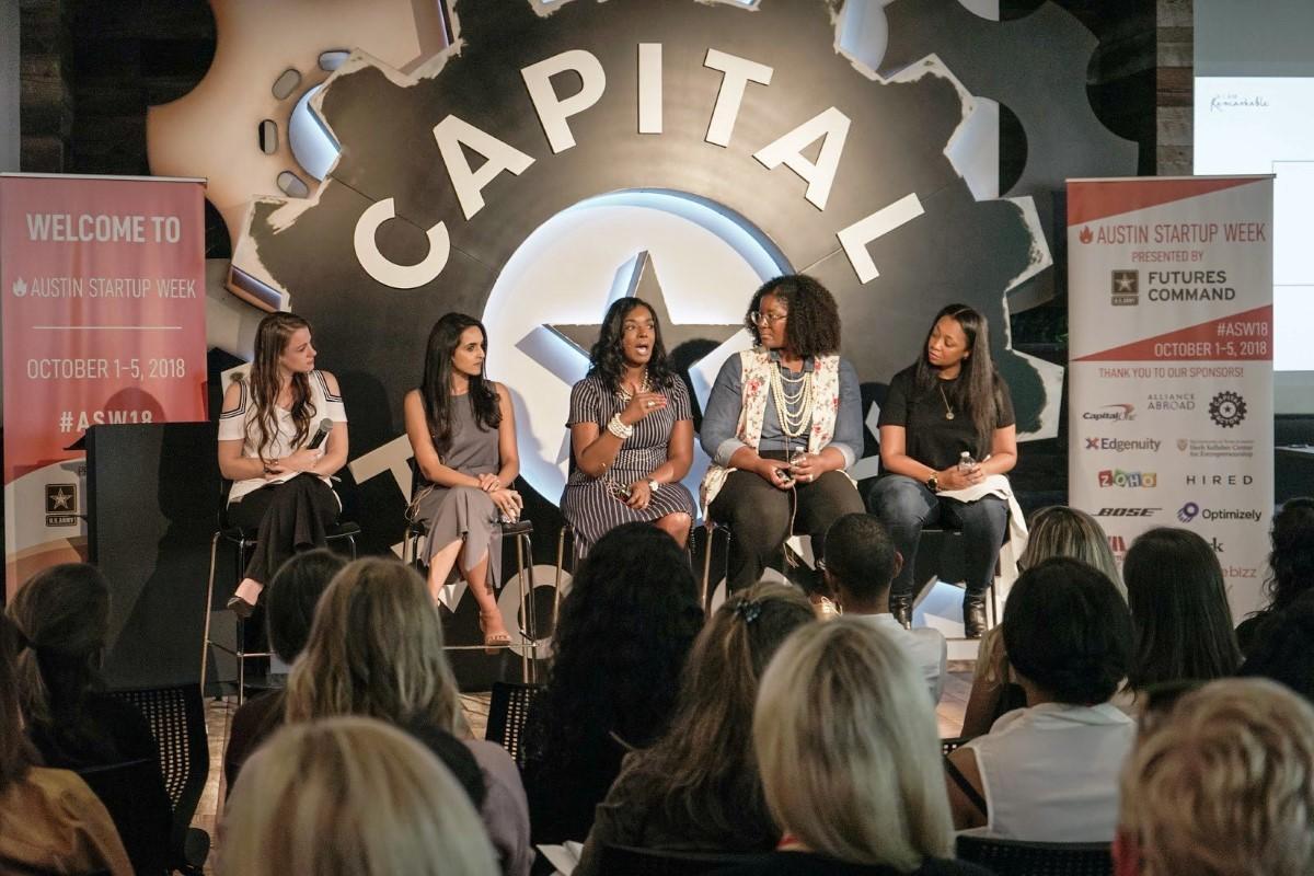 Female entrepreneurs in capital raising talk at Austin Startup week