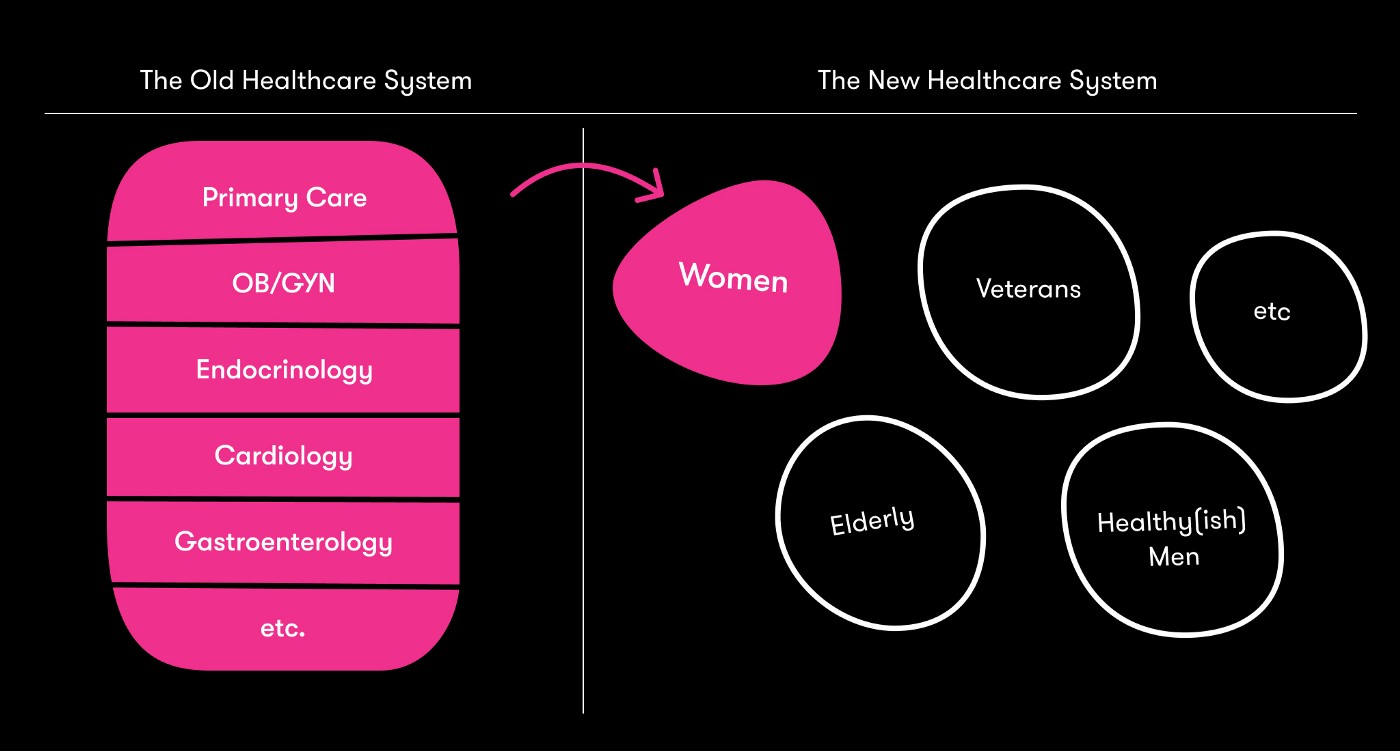a chart of Tia's healthcare system