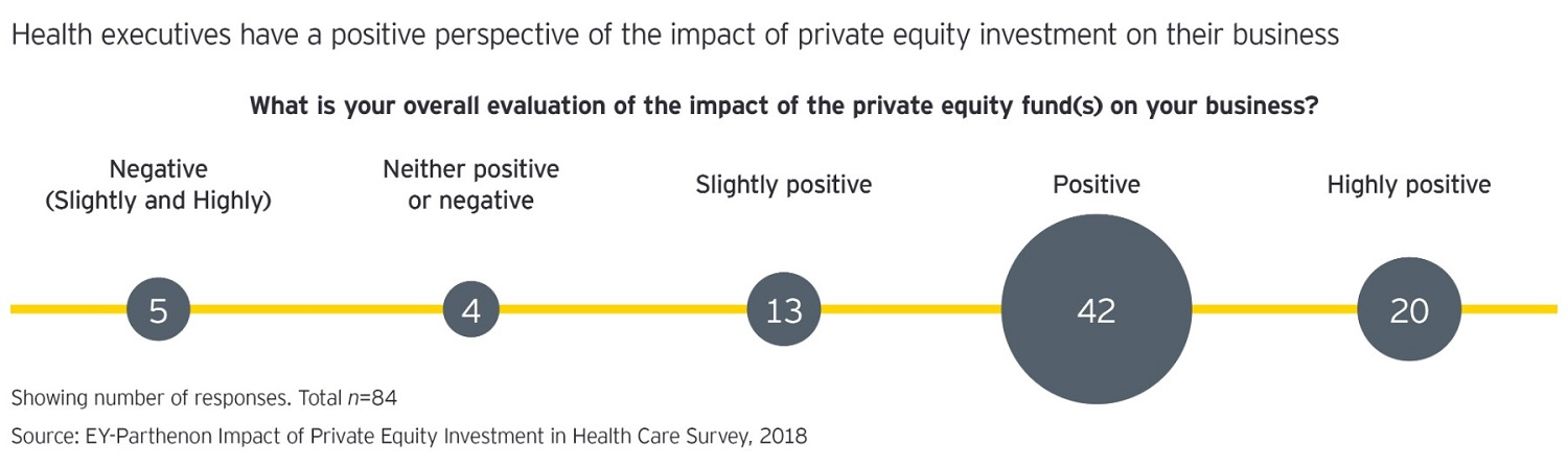 A diagram of PE investment on healthcare business