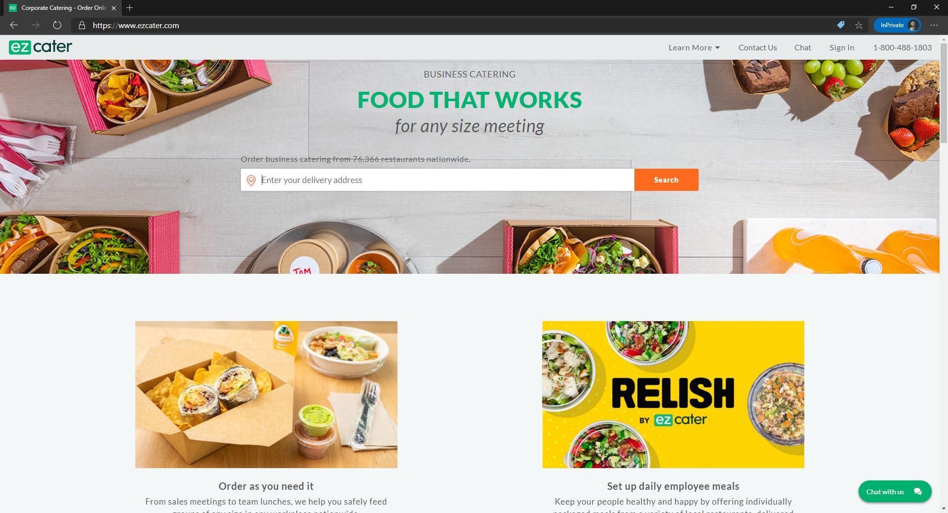 ezCater website