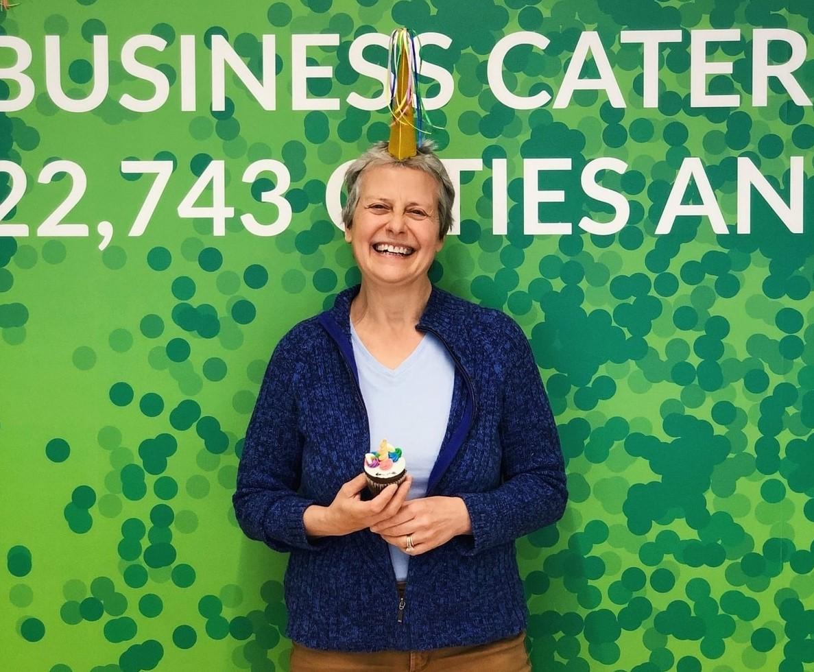 Stefania Mallett in celebration of users achievement milestone