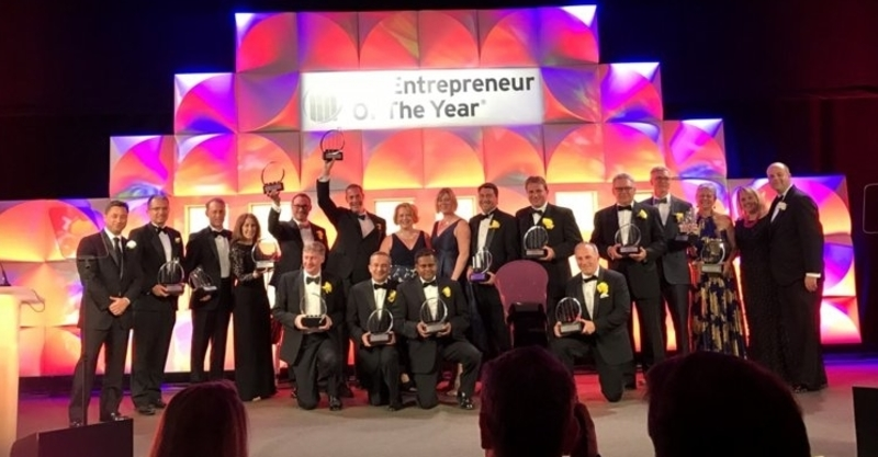 ezCater receive awards of Entrepreneur of the year