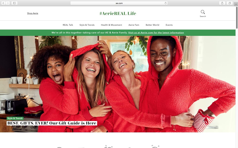 Aeriereal Life website homepage