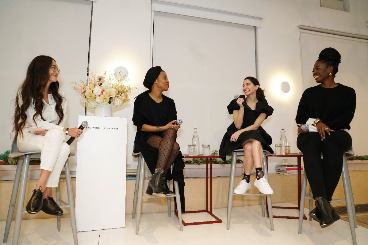 Cole Haan panelists in a meetup event