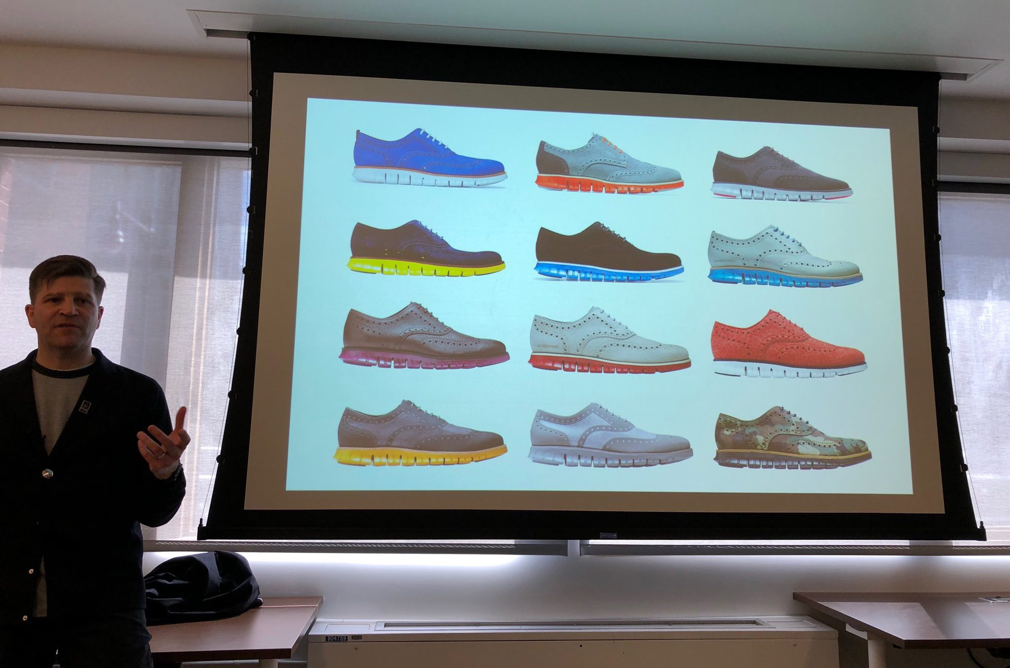 Cole Haan chief of marketing officer present shoes design