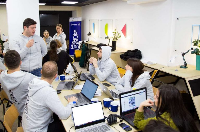 members from admitted startups in the program build their product