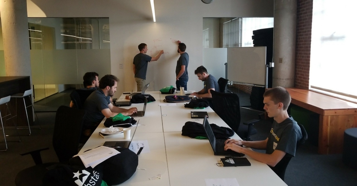 Founders collaborate on product building process
