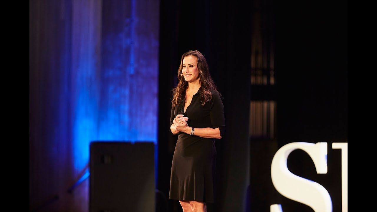 Young woman present at Success conference
