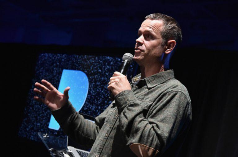 Pandora founder Tim Westergren speak in a tech conference
