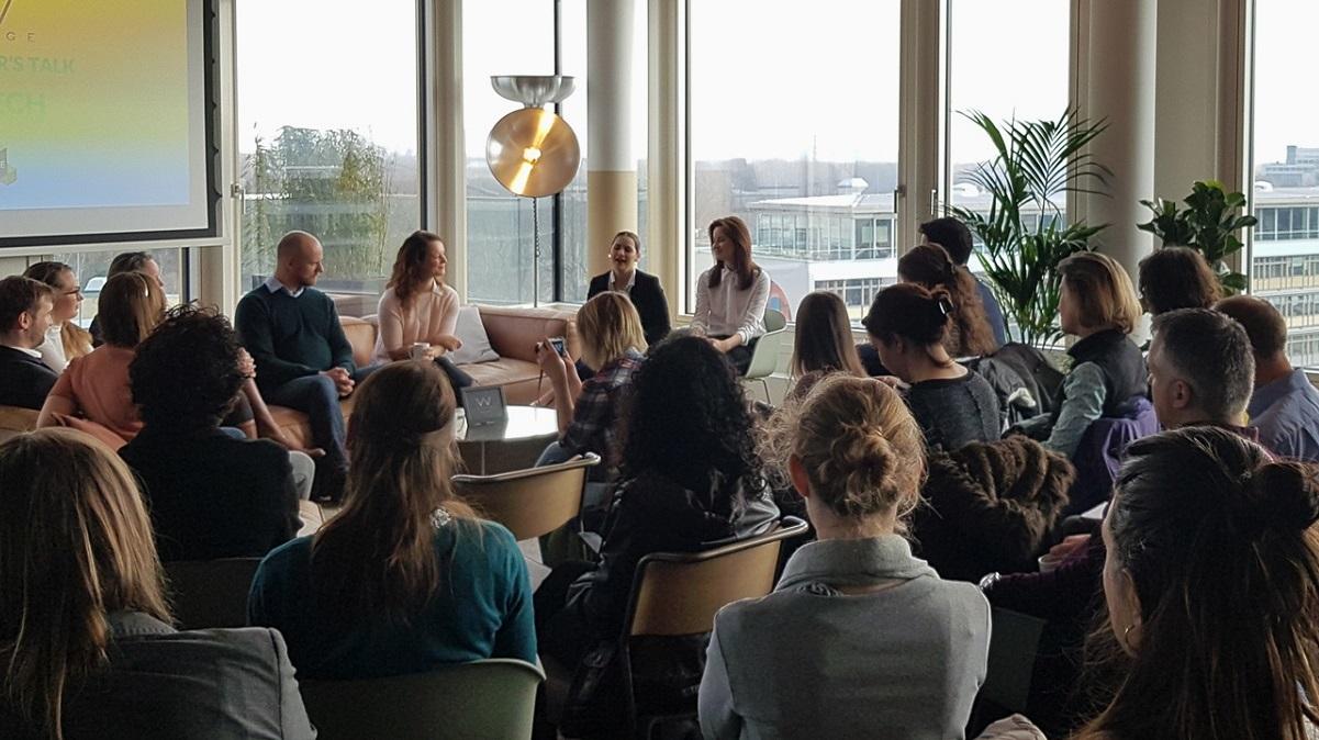 female entrepreneurs share ideas in a meetup event