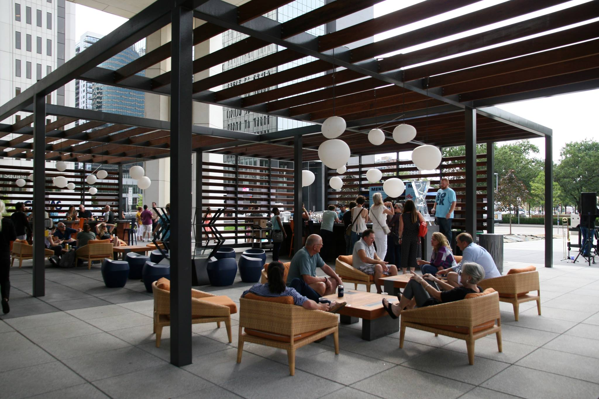 People gather at Elevate food hall