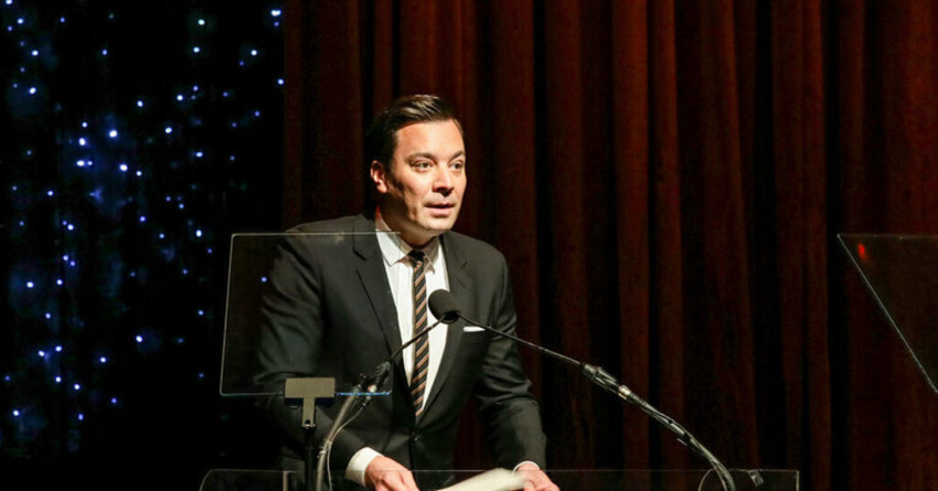 Jimmy Fallon at a conference