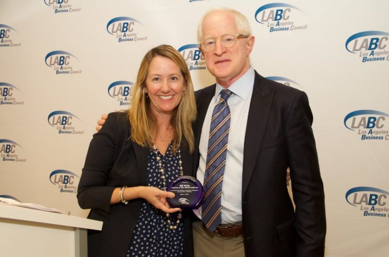 Nadine Watt and Bill Witte in business council award