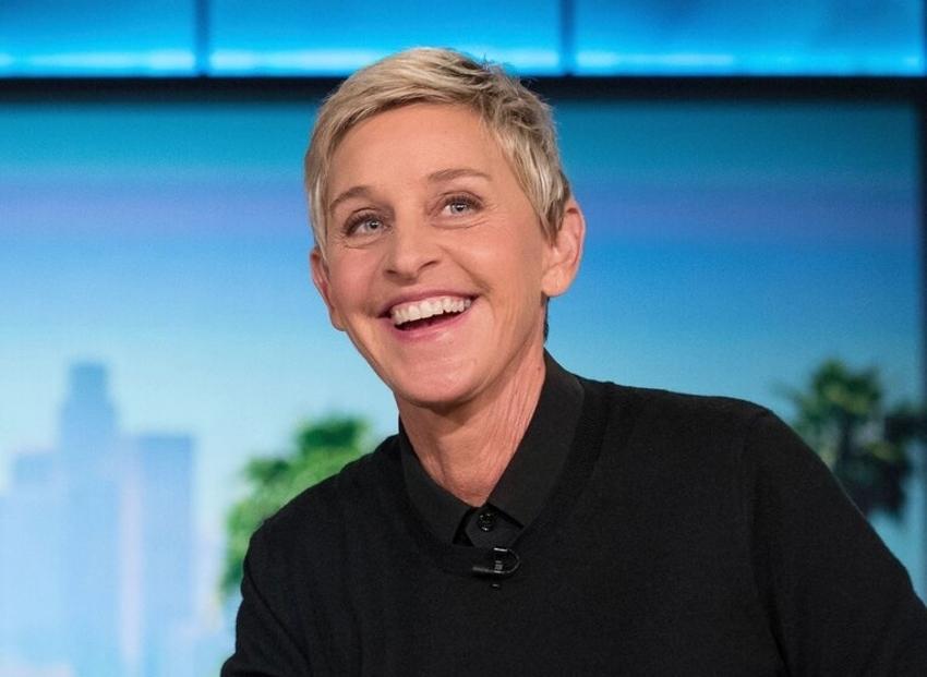 Ellen DeGeneres in talk show