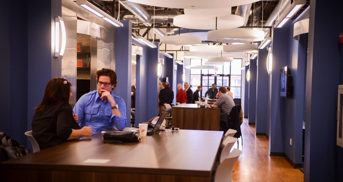 people collaborate in Nashville center