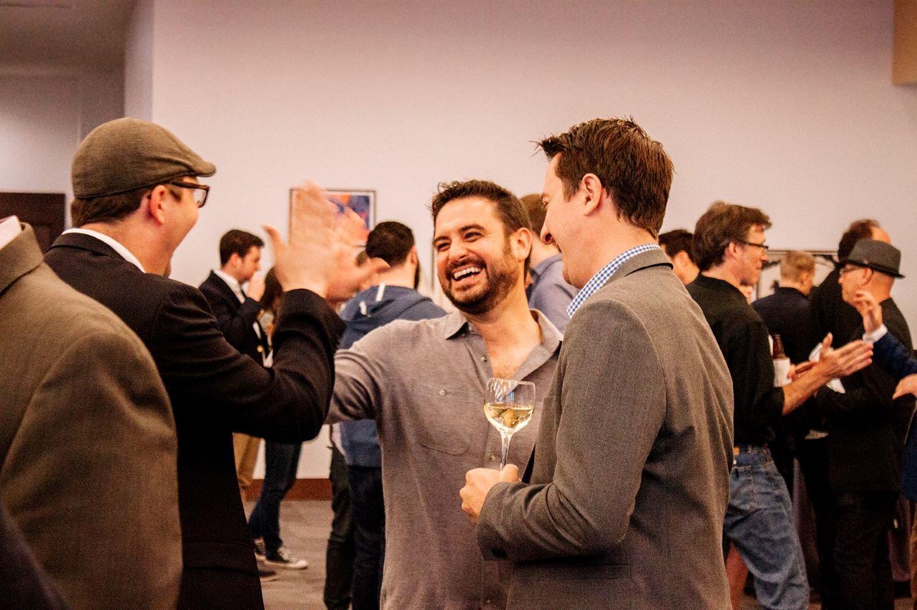 Entrepreneurs network in an event