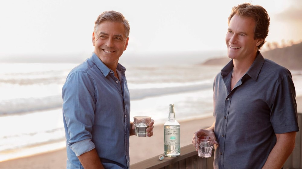 Casamigos co-founders in product showcase at the beach
