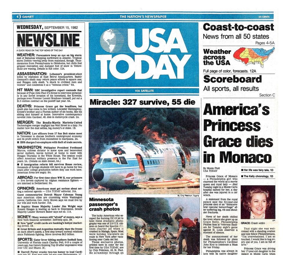 USA Today issue in the early days
