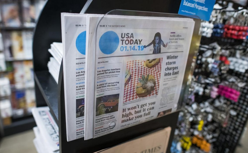 a USA Today issue stand at a store