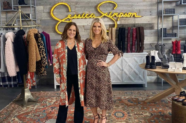 a Jessica Simpson store with a manager