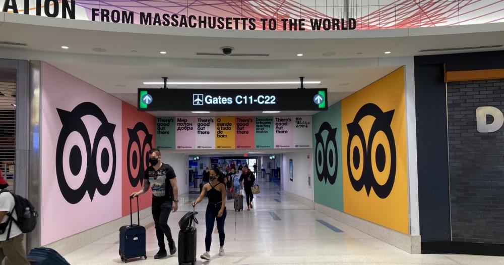 TripAdvisor showcase at the airport