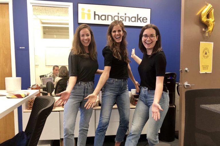 Handshake staff celebrate 4 years anniversary