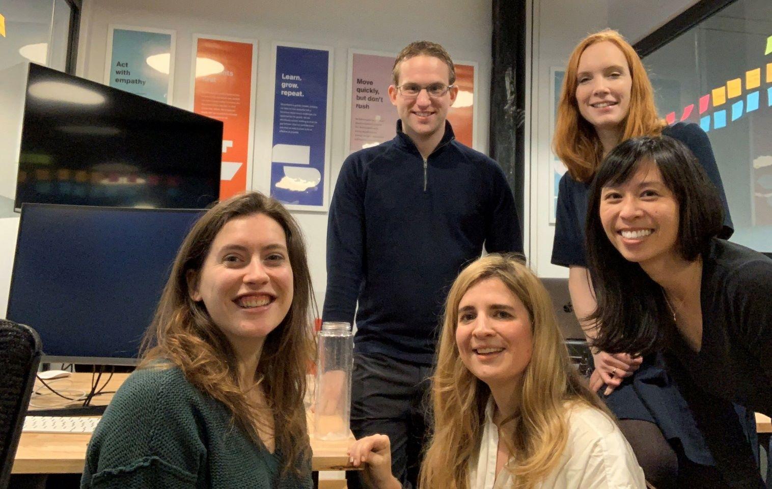 Handshake marketing team in collaboration session