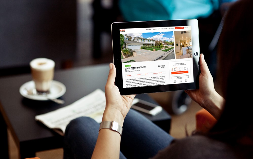 REX Homes application on the tablet