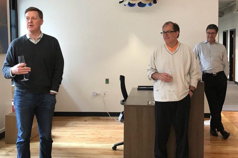 VillageMD leadership team talk at the grand opening