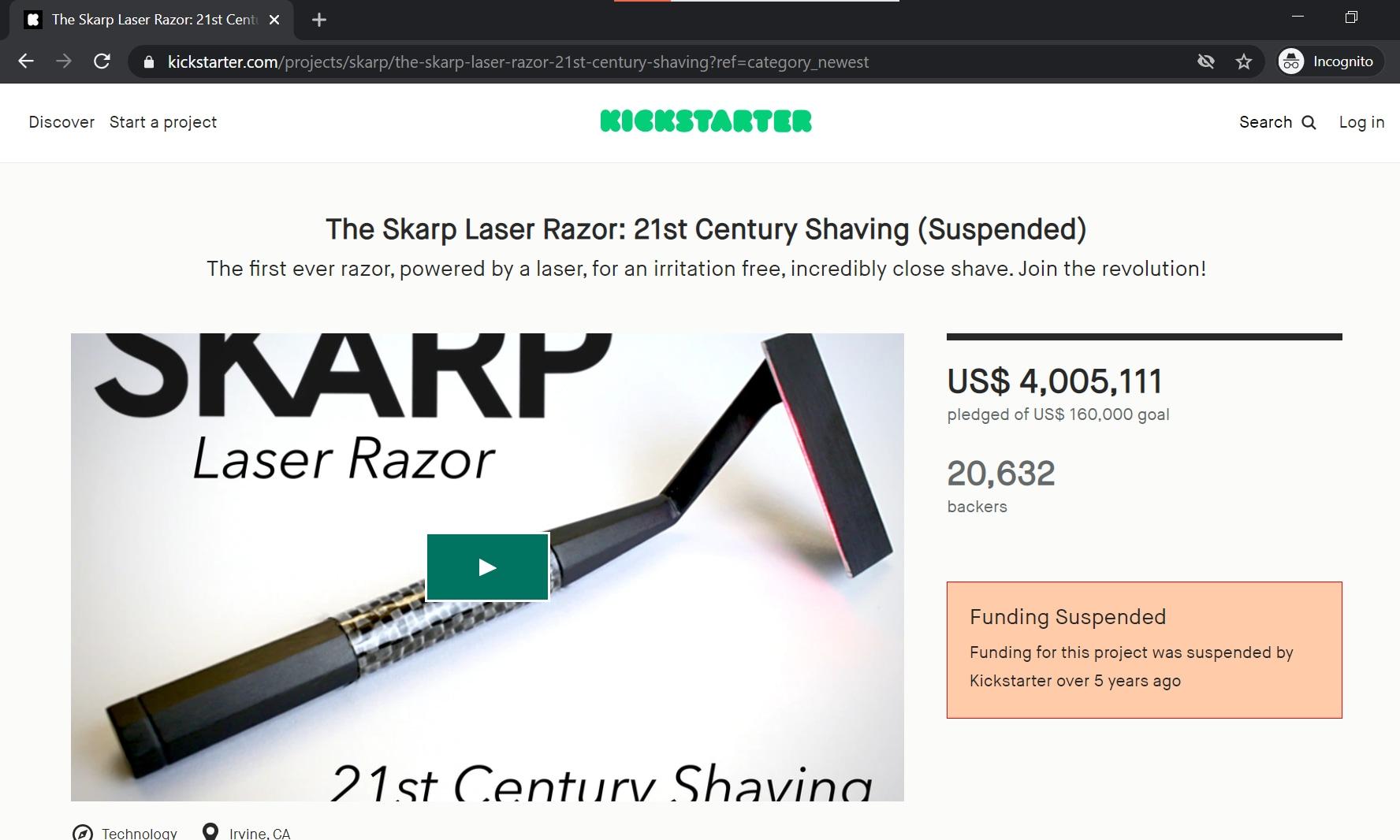Skarp Laser Razor produc showcase