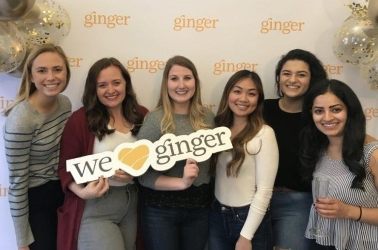 Ginger team celebrate their anniversary