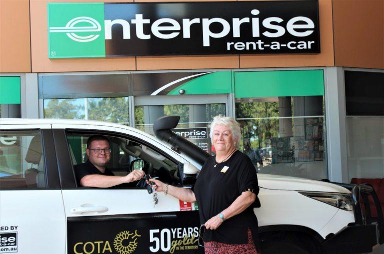 Enterprise staff hand keys to customer