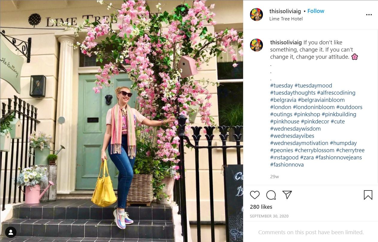 Olivia instagram page