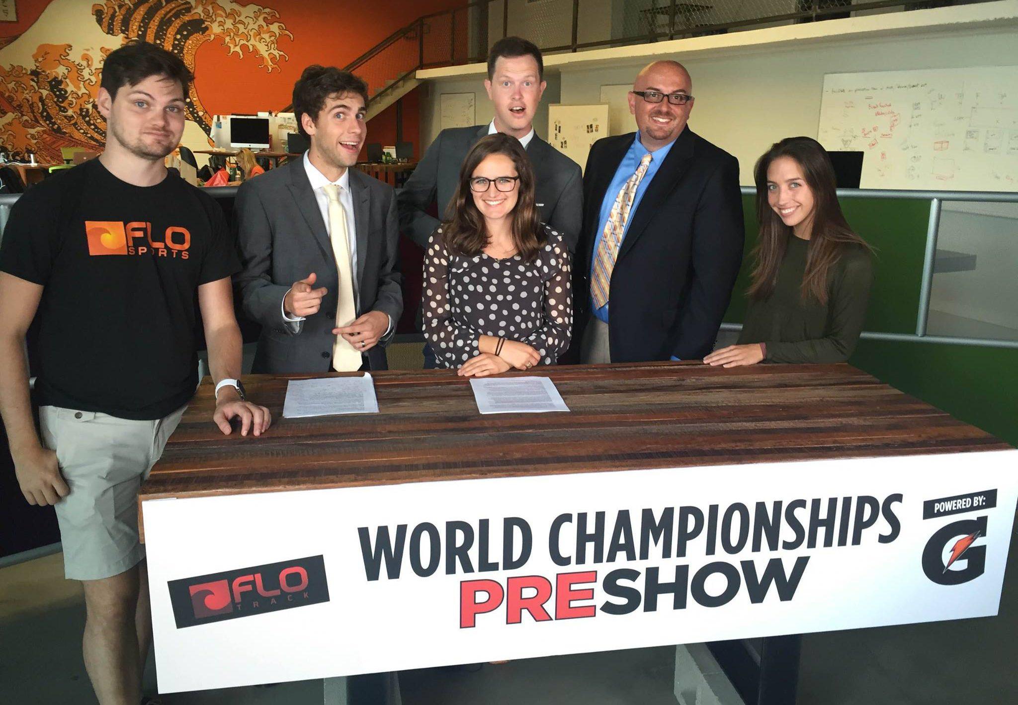 FloSports team at the World Championships preshow