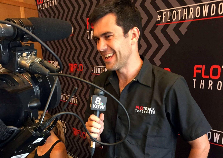 FloSports team in an interview at FloThrowDown