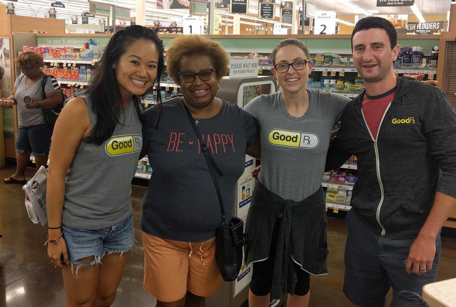 Consumers use GoodRX products at a local retailer